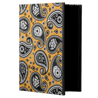 Paisley pattern yellow, white and black elegant powis iPad air 2 case