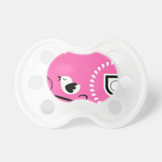 Paisley Pink Baby Paci With Bird Design Pacifier