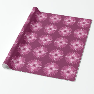 Paisley pink flower wrapping paper