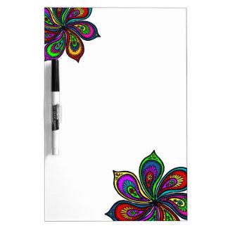 Paisley Pinwheel of Colors Dry Erase Board