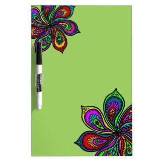 Paisley Pinwheel of Colors Dry Erase Board green