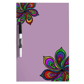 Paisley Pinwheel of Colors Dry Erase Board lavendr