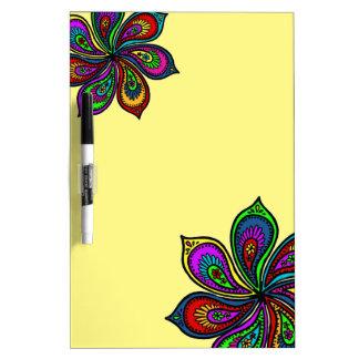 Paisley Pinwheel of Colors Dry Erase Board yellow
