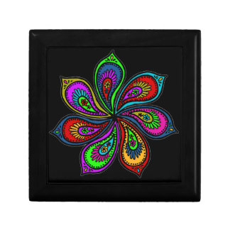 Paisley Pinwheel of Colors Gift Box