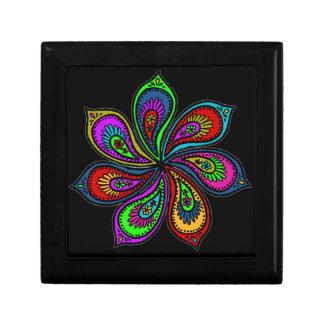 Paisley Pinwheel of Colors Keepsake Box