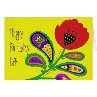 Paisley Poppy Greeting Card
