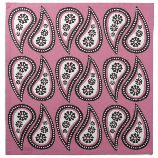 Paisley Print Napkins - Pink