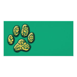 Paisley Puppy Print Personalized Photo Card