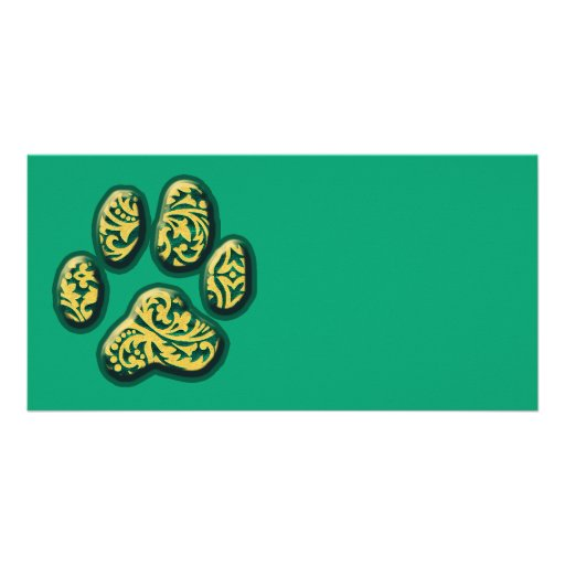 Paisley Puppy Print Picture Card
