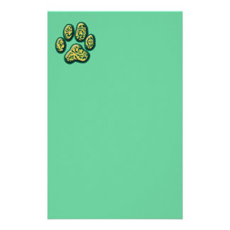 Paisley Puppy Print Stationery Paper