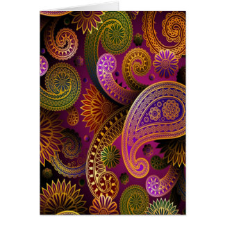 Paisley Purple Card