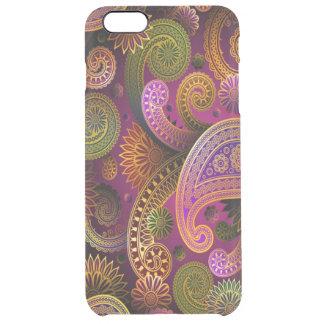 Paisley Purple Clear iPhone 6 Plus Case