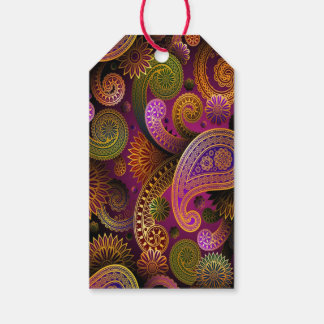 Paisley Purple Gift Tags