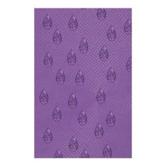 Paisley Purple Tears Stationery Paper