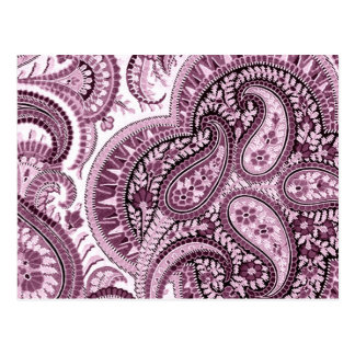 Paisley rose cartes postales