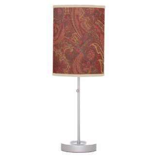 Paisley sage, wine, butter Table Lamp