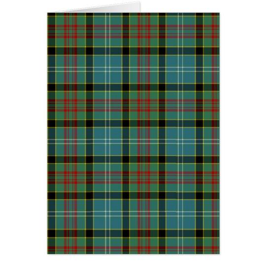 Paisley Scotland District Tartan Card