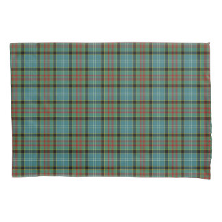 Paisley Scotland District Tartan Teal and Black Pl Pillowcase
