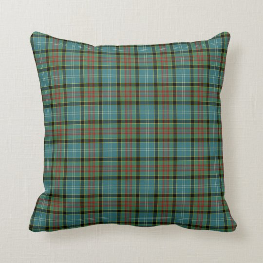 Paisley Scotland District Tartan Throw Pillow
