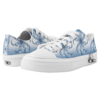 Paisley silver element. Low-Top sneakers