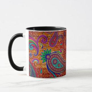 Paisley style mug