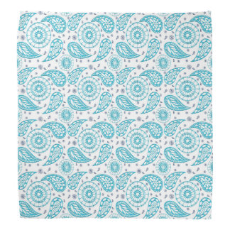 Paisley teal pattern. bandana
