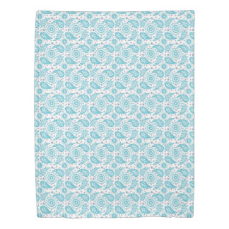 Paisley teal pattern. duvet cover