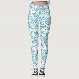 Paisley teal pattern. leggings