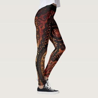Paisley Wood Texture Yoga Leggings