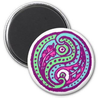 Paisley Yin Yang Magnet