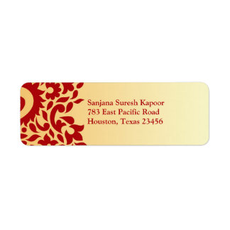 Paisleys Elegant Indian Return Address Label