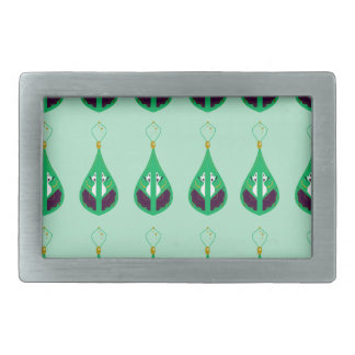 Paisleys emerald green. Original drawing Belt Buckle