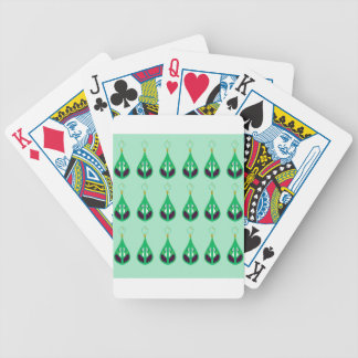 Paisleys emerald green. Original drawing Bicycle Playing Cards