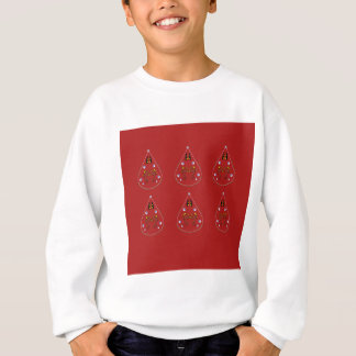 Paisleys hand drawn Red. Original Artwork Sweatshirt