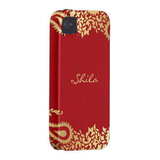 Paisleys Indian iPhone 4 Case-Mate Vibe Case iPhone 4/4S Covers