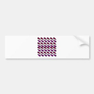 Paisleys Vintage design on white Bumper Sticker
