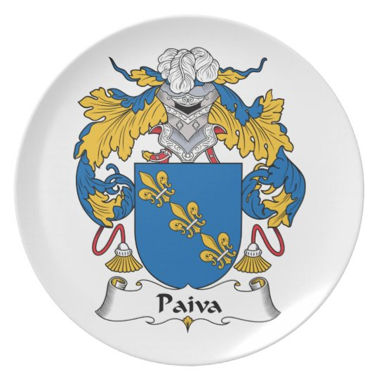 Paiva Family Crest Plate
