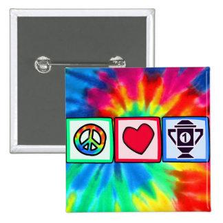 Paix amour gagnant badge avec épingle