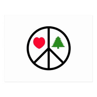 Paix, amour, Joyeux Noël Cartes Postales