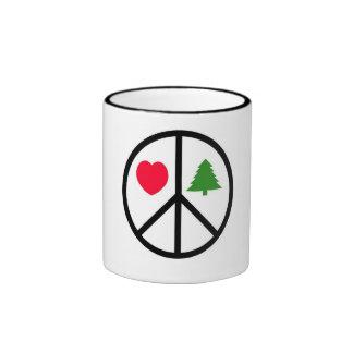 Paix, amour, Joyeux Noël Tasse
