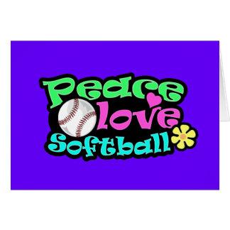 Paix, amour, le base-ball carte de vœux