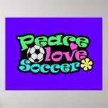 Paix, amour, le football ; Rétro Affiche