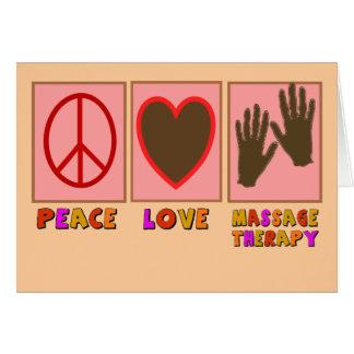 Paix amour thérapie de massage cartes de vœux