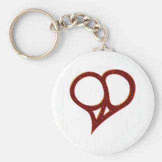 Paix coeur heart peace porte-clés