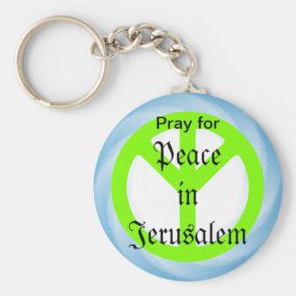 Paix dans le porte - clé de Jérusalem Porte-clé Rond
