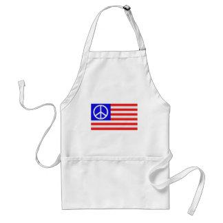Paix de drapeau des USA Tablier