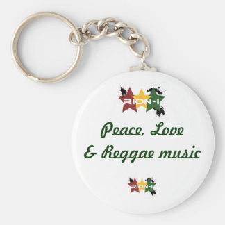 """""""paix, musique de love&reggae """" porte-clé rond"""