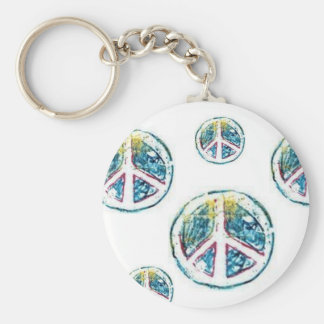 paix, paix, paix, paix, paix porte-clé rond