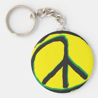 paix porte-clé rond