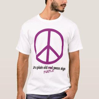 Paix pourpre t-shirt